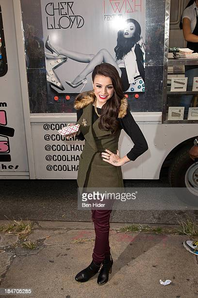 Cher Lloyd attends 'Cher Lloyd CoolHause Ice Cream Truck Give Away' at Covenant House on October 15 2013 in New York City