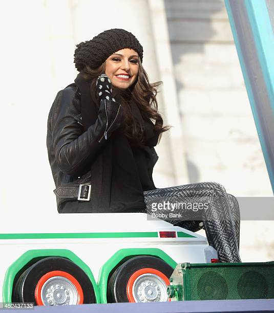 Cher Lloyd attends the 87th annual Macy's Thanksgiving Day parade on November 28 2013 in New York City