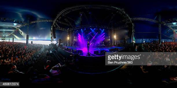 Cher lloyd performs at The Isle of Wight Festival as Seaclose Park on June 14 2014 in Newport Isle of Wight