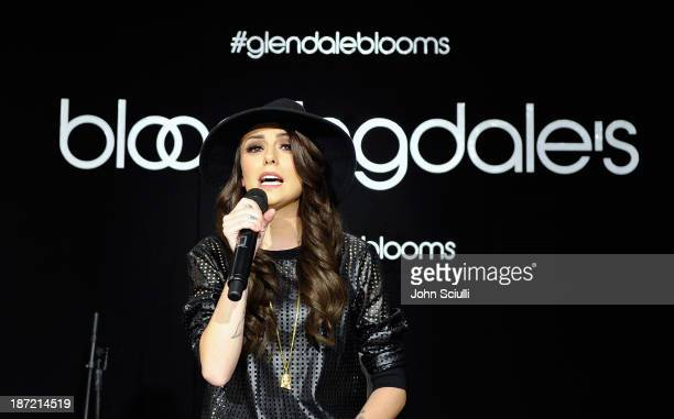Cher Lloyd performs during Bloomingdale's Glendale opening gala celebration with VH1 Save The Music Foundation at Bloomingdale's Glendale on November...