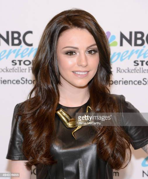 Cher Lloyd promotes the new CD Sorry I'm Late at NBC Experience Store on May 27 2014 in New York City
