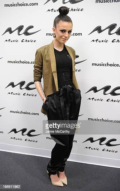 Cher Lloyd visits UA at Music Choice on April 18 2013 in New York City