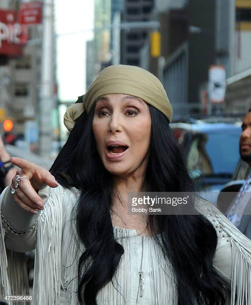 Cher makes an unannounced appearance on the 'Late Show with David Letterman' on May 6 2015 in New York City