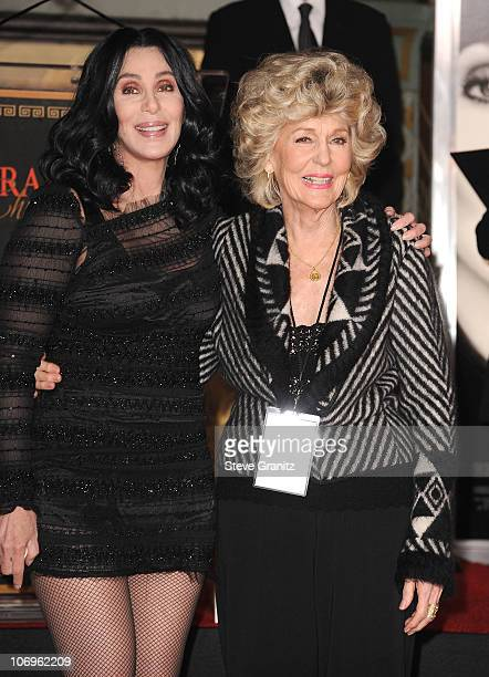 Cher mom Georgia Holt attends Hand And Footprint Ceremony At Grauman's Chinese Theatre>> at Grauman's Chinese Theatre on November 18 2010 in...