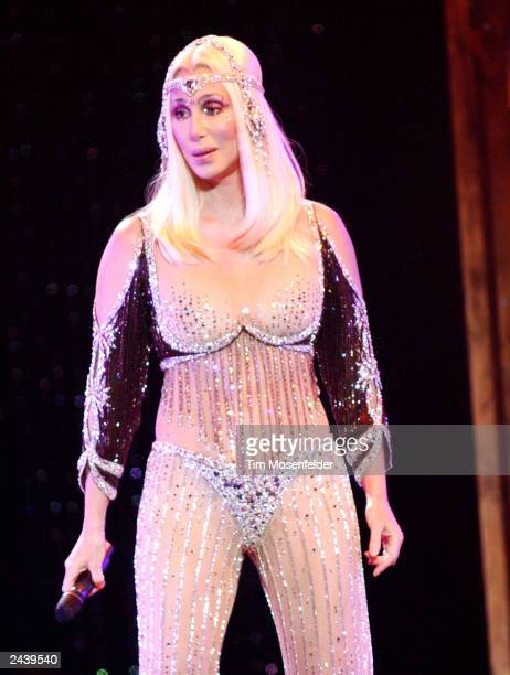 Cher performing at the Compaq Center in San Jose CA on August 4th 2002 Photo by Tim Mosenfelder/Getty Images