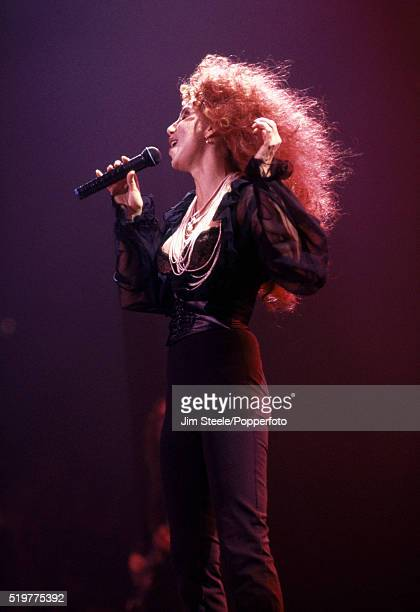 Cher performing on stage at the Wembley Arena in London on the 6th May 1992