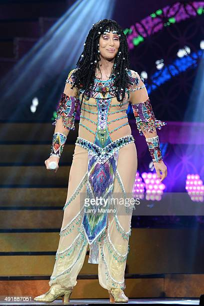 Cher performs at BBT Center on May 17 2014 in Sunrise Florida