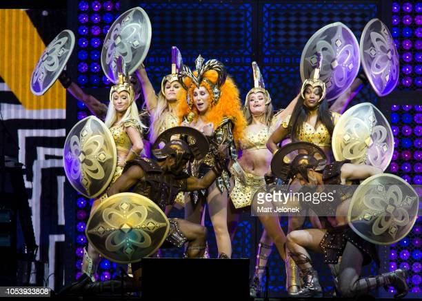 Cher performs at Perth Arena on October 12 2018 in Perth Australia