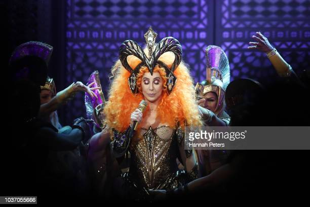 Cher performs at Spark Arena on September 21 2018 in Auckland New Zealand