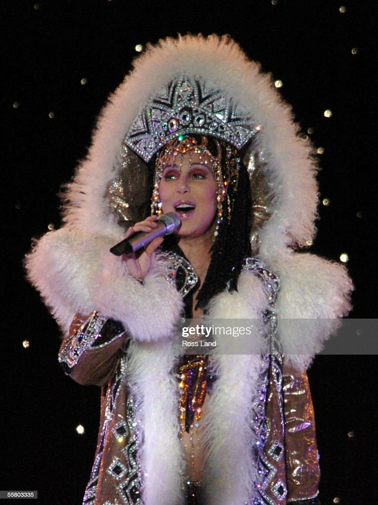 Cher performs at the North Harbour Stadium, Auckland, Sunday February20, 2005, in the first of her two New Zealand concerts during her world farewell tour.
