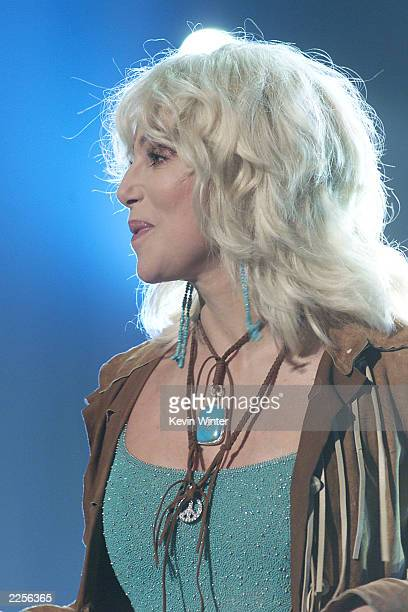 Cher performs at the taping of 'American Bandstand's 50thA Celebration' at the Pasadena Civic Auditorium in Pasadena Ca Saturday April 20 2002 Photo...