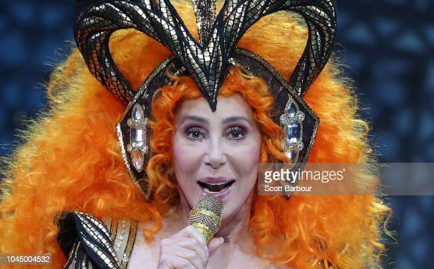 Cher performs during her Here We Go Again Tour at Rod Laver Arena on October 3, 2018 in Melbourne, Australia.