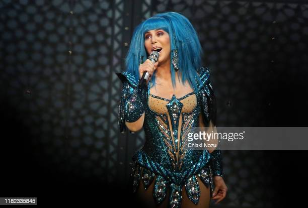 Cher performs onstage at The O2 Arena on October 20 2019 in London England