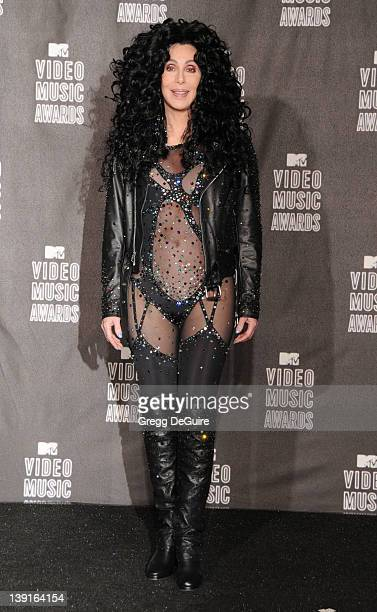 Cher poses in the press room at the 2010 MTV Video Music Awards at the Nokia Theatre on September 13 2010 in Los Angeles CA