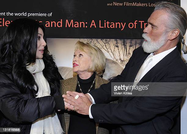 Cher Tippi Hedren and Chris Gallucci attend Kat Kramer's Films That Changed The World Elephants And Man A Litany Of Tradegy at Sunset Gower Studios...