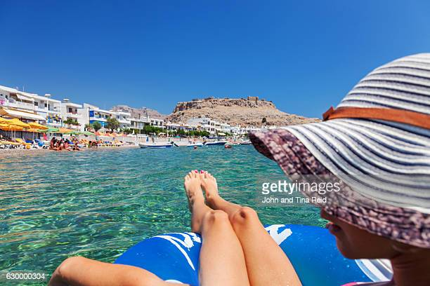 cheraki playground - lindos stock photos and pictures
