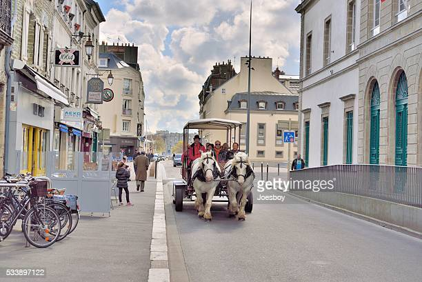 Cherbourg Tourist in Horse Drawn Carriage