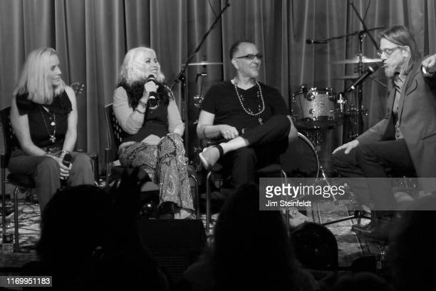 Cherei Currie Brie Darling Dave Darling Scott Goldman during interview at the Grammy Museum in Los Angeles California on August 1 2019
