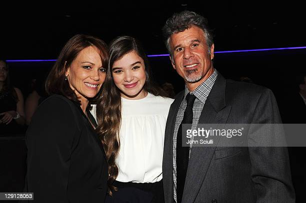 Cheri actress Hailee Steinfeld and Peter Steinfeld attends the 2011 Young Hollywood Awards presented by Bing at Club Nokia on May 20 2011 in Los...