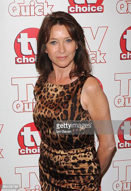 Cheri Lunghi attends the TV Quick Tv Choice Awards at The Dorchester on September 7 2009 in London England