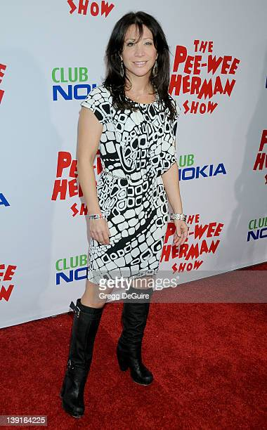Cheri Oteri arrives at the Opening Night of 'The PeeWee Herman Show' at Club Nokia at LA Live on January 20 2010 in Los Angeles California