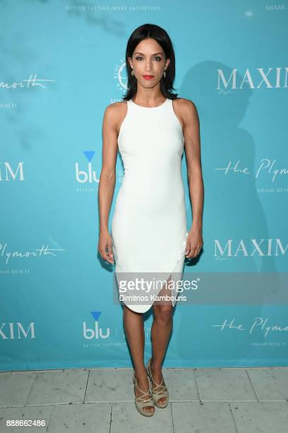Cheriann Kwon attends the Maxim December Miami Issue Party Presented by blu on December 8 2017 in Miami Beach Florida