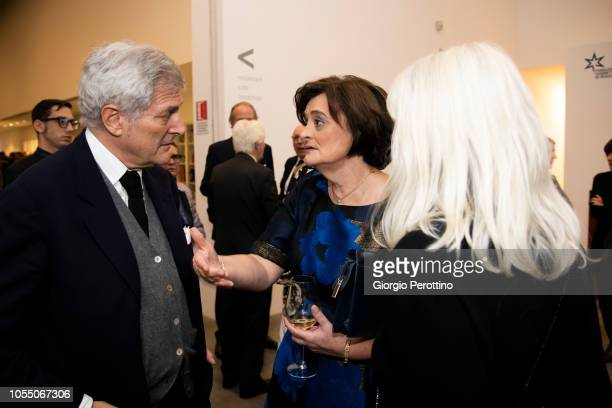 Cherie Blair and Alain Elkann attend the 'StellaRe Award 2018' ceremony at Fondazione Sandretto Re Rebaudengo Contemporary Art Foundation on October...