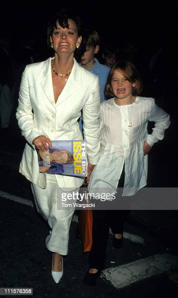 Cherie Blair and children during 'The Horse Whisperer' After Party at Mirabelle Restaurant in London Great Britain