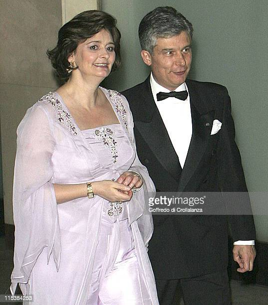 Cherie Blair and guest during The 2005 Asian Women of Achievement Awards at London Hilton in London Great Britain