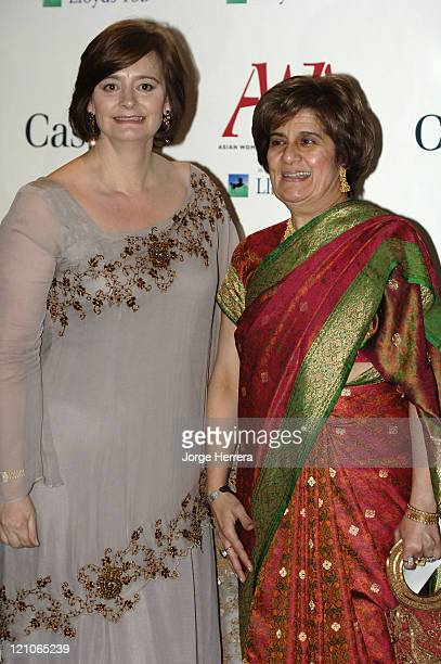 Cherie Blair and guest during The Asian Women of Achievement Awards – Arrivals at London Hilton on Park Lane in London Great Britain
