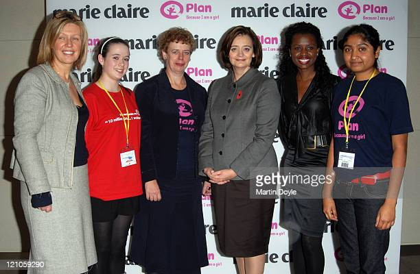 Cherie Blair and June Sarpong supporting the Beacuse I Am A Girl campaign
