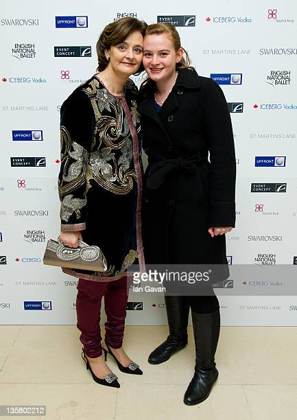 Cherie Blair and Katherine Blair attend The English National Ballet's Christmas Party at the St Martins Lane Hotel on December 14 2011 in London...