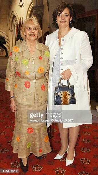 Cherie Blair and mother Gale arrive at the the Help The Aged Living Legends awards ceremony and reception hosted by Queen Elizabeth II at Windsor...