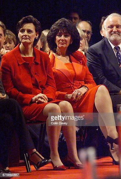 Cherie Blair and Pauline Prescott in the audience on the last day of the Labour Party Conference Brighton 28th September 2000