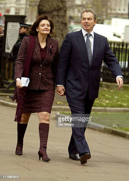 Cherie Blair and Tony Blair attend Memorial Service for former Labour Minister Robin Cook