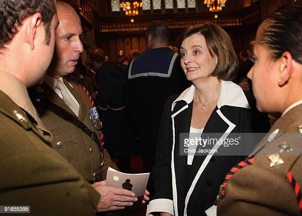 Cherie Blair attends a reception at London Guildhall after a Service of Commemoration to mark the end of combat operations in Iraq on October 9, 2009...