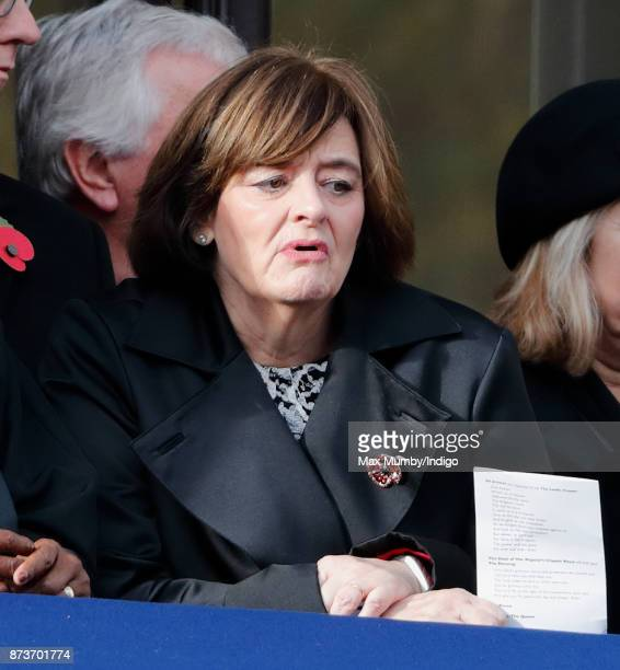 Cherie Blair attends the annual Remembrance Sunday Service at The Cenotaph on November 12, 2017 in London, England. This year marks the first time...