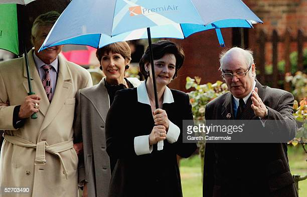 Cherie Blair attends the funeral service held for Sir John Mills on April 27 2005 in Denham