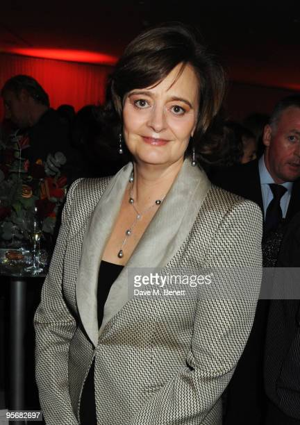 Cherie Blair attends the VIP reception to launch the English National Ballet Christmas season ahead of the performance of 'The Nutcracker' at the St...