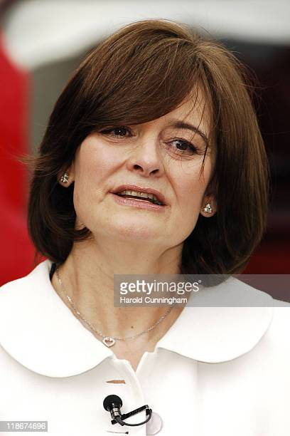 Cherie Blair during 3rd International Widows Day in London Photocall at Trafalgar Aquare in London Great Britain