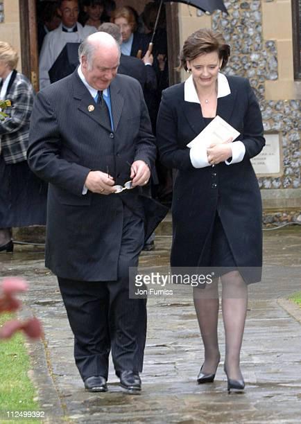 Cherie Blair during Funeral of Actor Sir John Mills April 27 2005 at The Parish Church of Saint Mary the Virgin in Denham Great Britain
