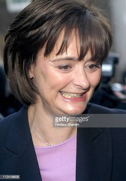 Cherie Blair during Make Poverty History January 13 2005 at 10 Downing St in London Great Britain