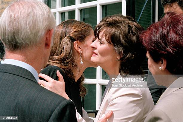 Cherie Blair greets Queen Rania during her visit to London in June 2002 Queen Rania AlAbdullah was born in Kuwait on August 31 1970 Queen Rania...