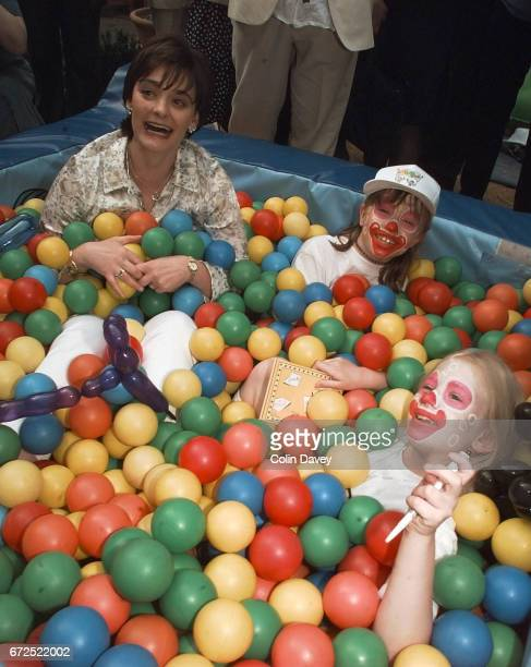 Cherie Blair in a ball pool at the launch of a charity week in support of kids clubs United Kingdom 24th June 1999