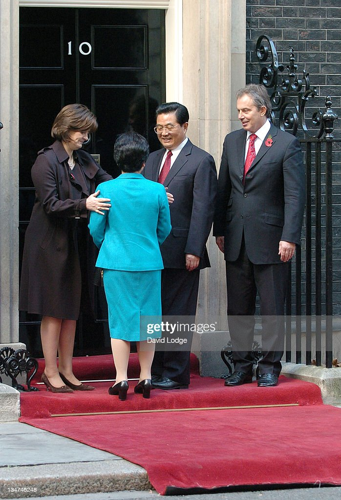 Chinese President Hu Jintao and Wife Liu Yongqing Vist 10 Downing Street -