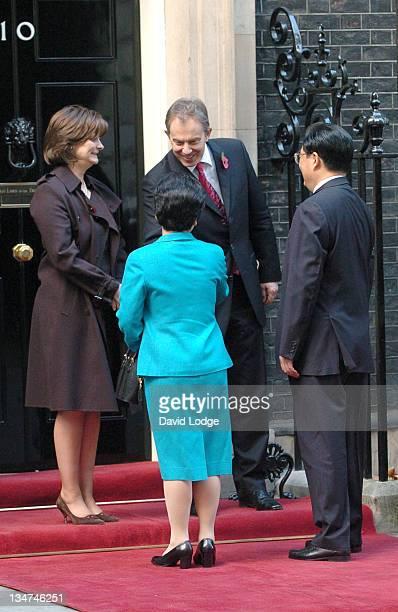 Cherie Blair, Liu Yongqing, the President's Wife, Chinese President Hu Jintao and Prime Minister Tony Blair
