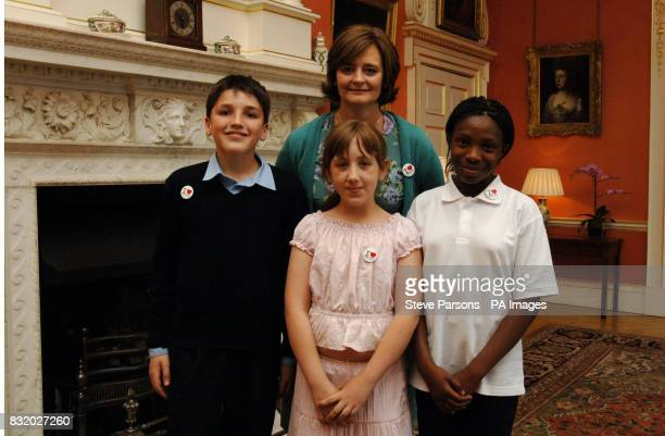 Cherie Blair meets Alexander Mellen Tausig JessicaMarie Newman and Nicole Akinyemi from Hackney South and Shoreditch for tea at No10 Downing Street...