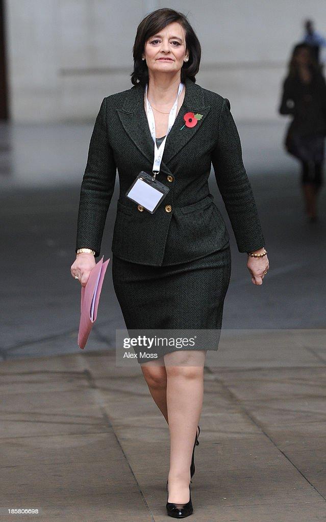 Cherie Blair Sightings In London - October 25, 2013