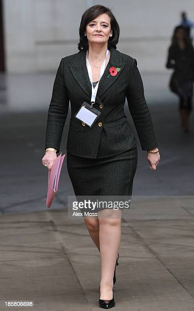 Cherie Blair sighted at the BBC studios on October 25 2013 in London England