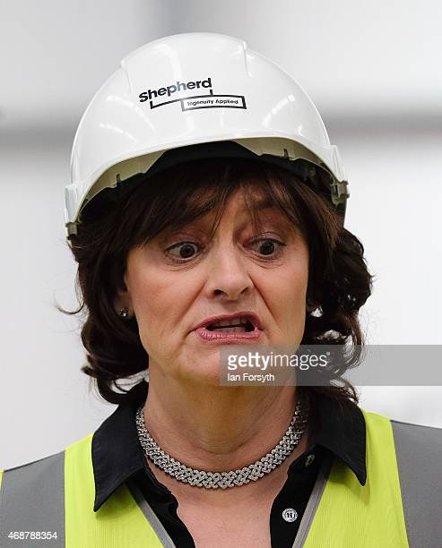 Cherie Blair the wife of former British Prime Minister and former MP for Sedgefield Tony Blair joins her husband as he visits the construction site...